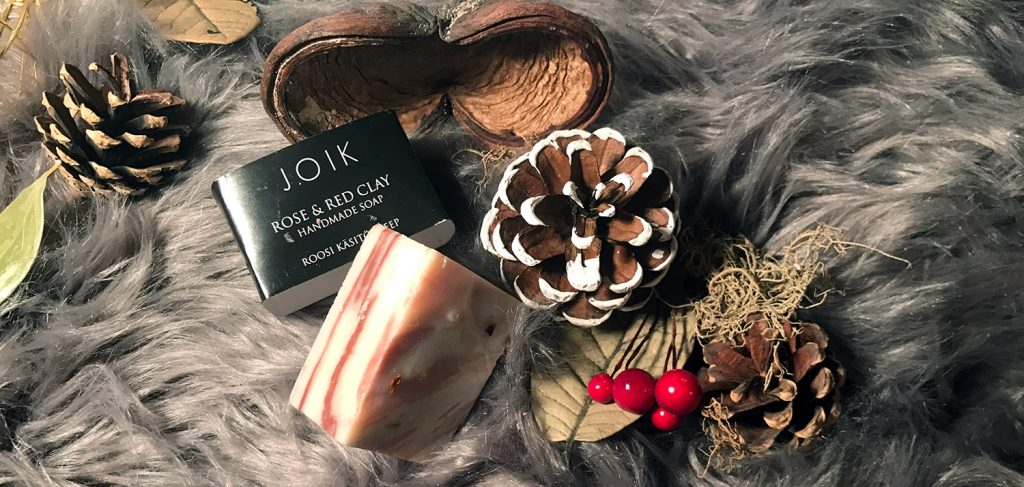 Joik Rose and red clay handmade soap