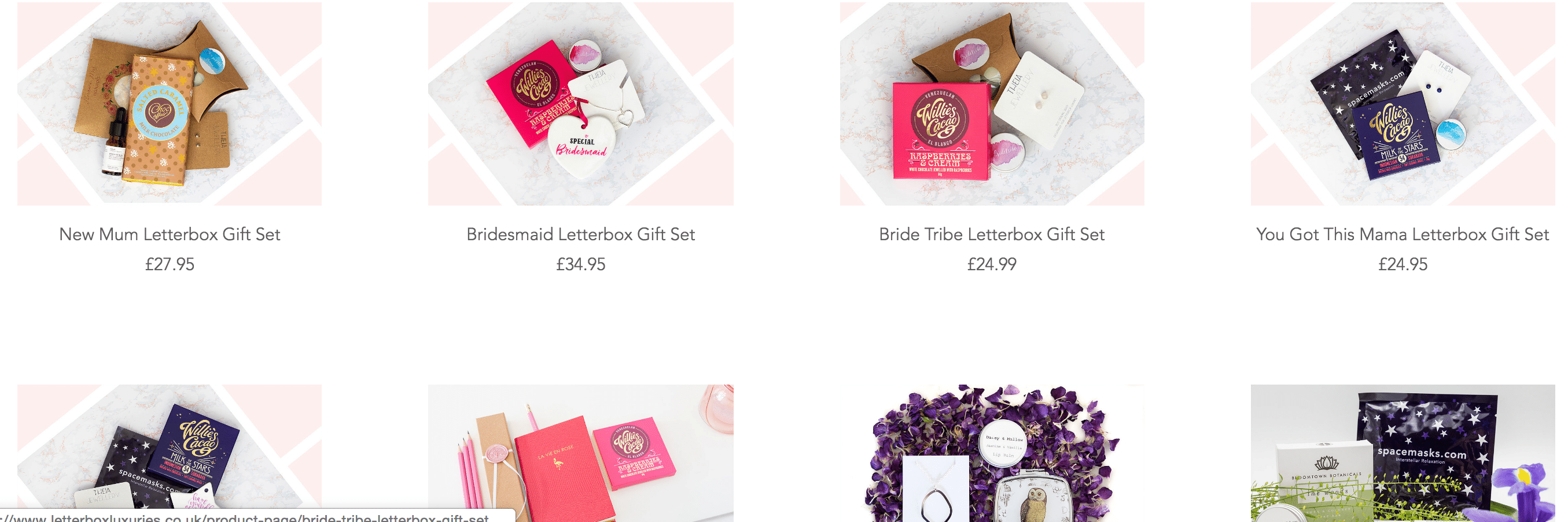 Letterbox luxuries gift ideas for bridesmaids